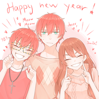 happy new year! by hasukou