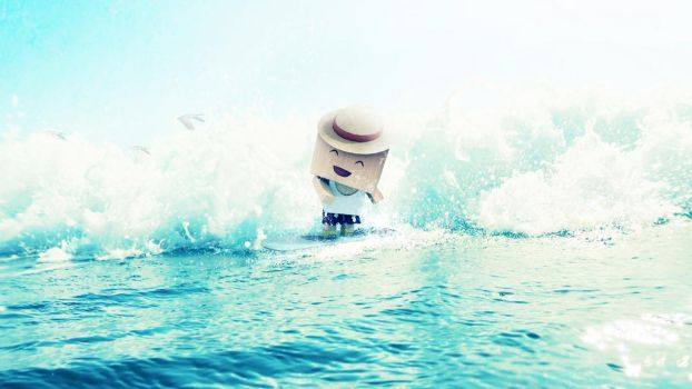 Surfing the Waves by KhaledReese
