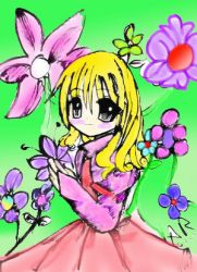 Colored Flowergirl by Cathy45