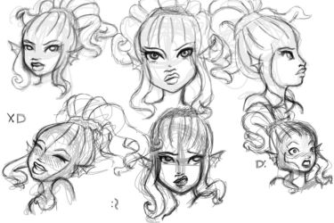 Cthylla face practice by KalopsiaCreation