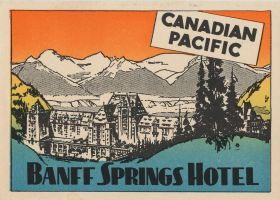 Vintage Canada - Banff Springs Hotel by Yesterdays-Paper