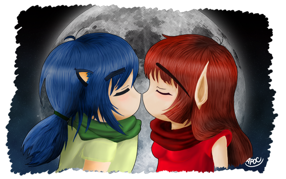 Kisses In The Night by ApocalypseTheHunter