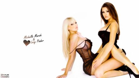 Michelle Marsh and Lucy Pinder by Envius88