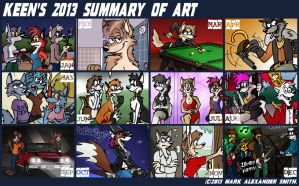 2013 Summary of Art by FreyFox
