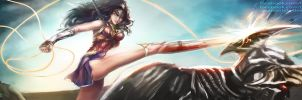 Wonder Woman vs Steppenwolf by Quan-Xstyle