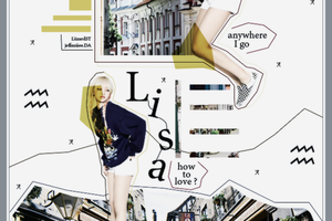 {1110} //Graphic// LISA BLACK PINK by LiizardST