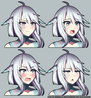 [CM] Anaema Bust Expression Sheet by Ateliae