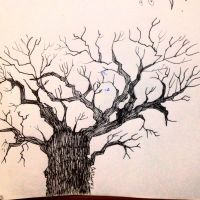 Inktober 2016 #11 - Tree by TinyNerdGirl