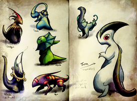The book of Monsters - Tiny creatures by JohannesVIII