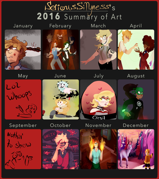 2016 Summary of Art by SeriousSillyness