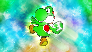[Game-BeatX14 + Mithandir Collab] Yoshi Wallpaper by Game-BeatX14