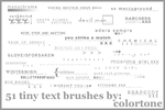 Tiny Text Brushes 2 by magdalena-stock