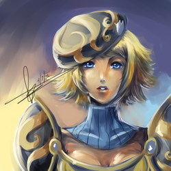 lux single-layer doodle by Hannah515