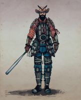 Reference Sheet: The Kentucky Samurai by A-Fox-Of-Fiction