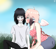 Jeff and Ikaros by Chikushodo-Doubutsu