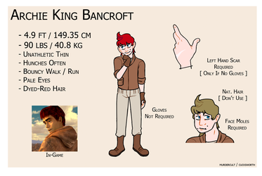 Archie Bancroft Reference Sheet by murdercult
