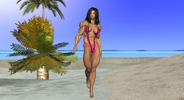 Lin on the beach 1 by Freedom by vince3