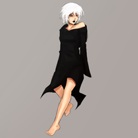 White Haired Woman by FlyingPings