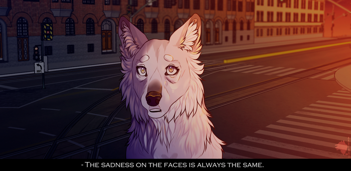 The sadness on the faces is always the same by Aarenki