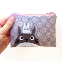 Retro fabric Totoro pouch by yael360
