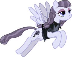 Inky Rose flying by CloudyGlow