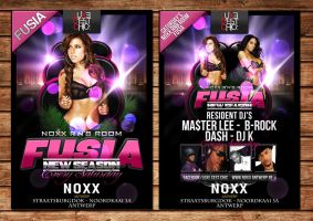 Fusia party flyer at noxx by Adriano09