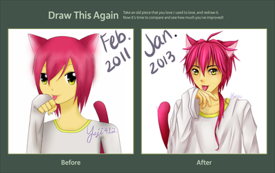 Draw This Again Meme - Anime Neko Redo by Yeji412