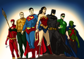 Justice League of America - The Original Seven by kyomusha