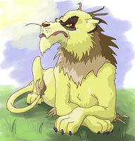 Mean Old Lion by Katemare