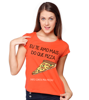Camiseta  Amo pizza by 98inalu-X