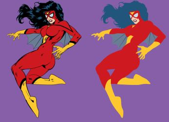 Spider-Woman - Flats by OrionPax09
