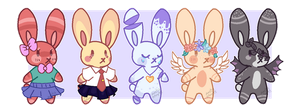 Anthro Bunny adopt batch 2 (open) by Zesty-Adopts