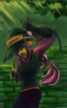 Witch and puzzles by aerococonut