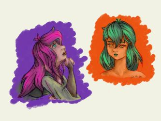 Purple and Orange by MagicalyMade