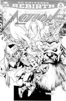 Action Comics Cover 971-Inks! by aethibert