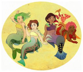 Mermaids by lemonflower