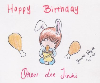Happy Birthday Onew by YuukiCrossKisa-VK