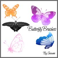 Butterfly Brushes by Snowiee