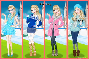 Elsa Today Dress Up Game by DressUpGamescom