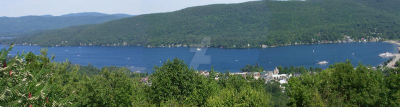 Lake George panorama (southern section) by morbiusx33