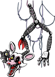 Five Nights at Freddy's - Ceiling Mangle by kaizerin