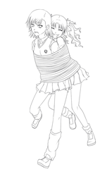 Tied Together (Lineart) by Project-Biri-Biri
