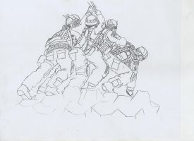Iwo Jima flag raising Special Forces version by jmig3