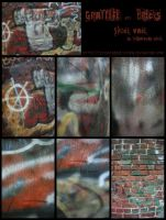 Graffiti and Bricks Stock Pack by fetishfaerie-stock