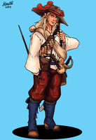 Half Elf Musketeer by Shabazik