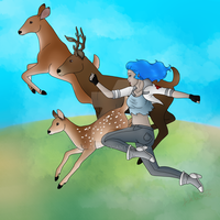 Deers by Adela555