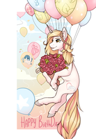 Commission| Happy Birthday Crystal-Wishes by RomyvdHel-Art
