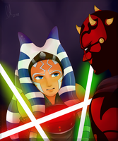 Ahsoka vs Maul by Chyche