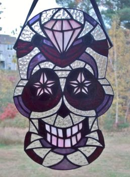 Magenta Madness Sugar Skull by AigneadhAigeann