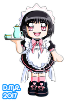 Chibi Cafe Hime Azumi - For ArtisticPages by Hika-Yagami